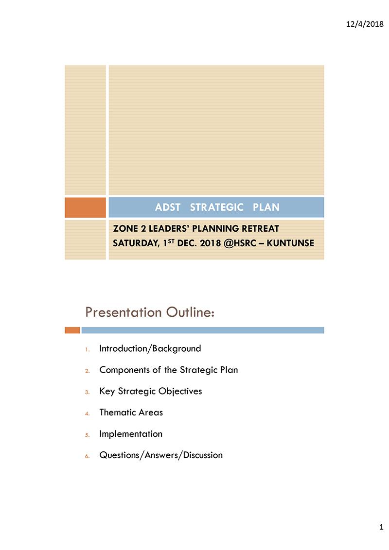 ADST Strategic Plan